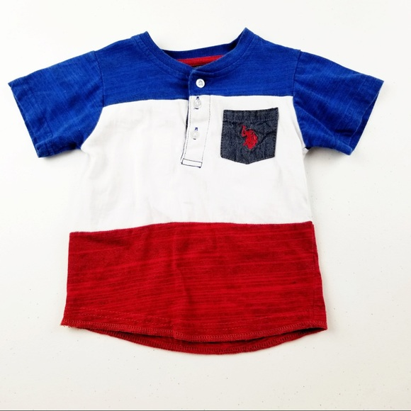 5 for $20 SALE U.S. Polo Assn Color block tee
